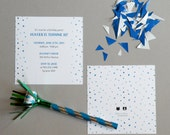 BLUE Watercolor Polka Dot Invitations - Printable, DIY, Dalmatian Dots