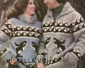 Cowichan Sweater White Buffalo  6103 Orca Sweater Unisex Digital KNITTING PATTERN Instant Download