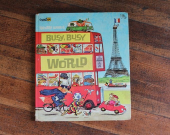 Vintage Children's Book - Richard Scarry's Busy Busy World (First Edition, 1965)