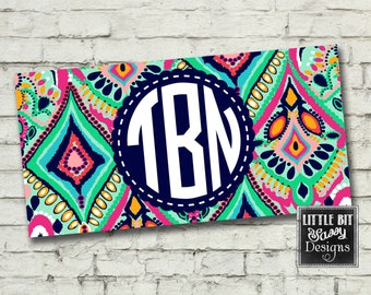 License Plate Personalized Car License Plate Custom Paisley Crown Jewels