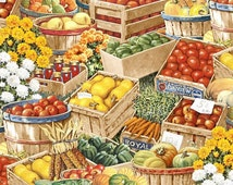 Wilmington Prints - Bringing in the Harvest - Harvest Basket Multi