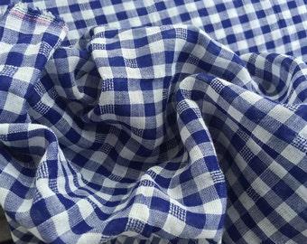 DESIGNER - American Eagle Yarn Dyed Cotton Plaid - Blue/White Check