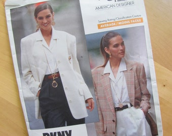 Uncut Vogue 2373 - DKNY - Misses Jacket - Size 12-16