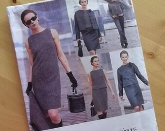 Uncut Vogue Sewing Pattern 1687 - Five Easy Pices - Misses Petite Jacket, Dress, Top, Skirt & Pants - Size 6-10