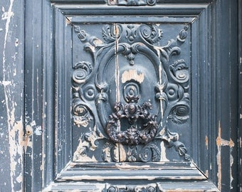 Paris Photograph - Worn Door, Hotel de Chalons, Marais, Shabby Decor, Architectural Fine Art Photograph, Urban Home Decor, Urbex