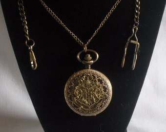 Watch / Harry Potter Inspired Hogwarts  Pocket Watch or Watch Necklace - Your Choice