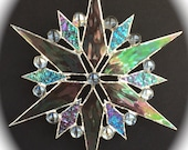 stained glass snowflake suncatcher  (design 11)