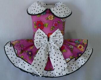 Dog dress. Garden Party by Poshdog. Tutu skirt.