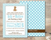 CUSTOMIZABLE PRINTABLE INVITATION -- Snips, Snails, & Puppy Dog Tails Collection -- Mirabelle Creations