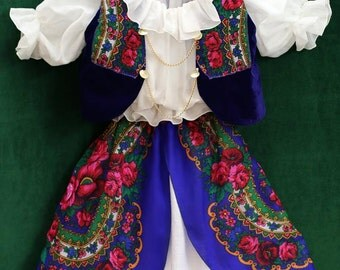 Harajuku Dress , Teen Girl Flower Dress , Folk Dress , Etno Party Dress , Clothing Girls set of 3