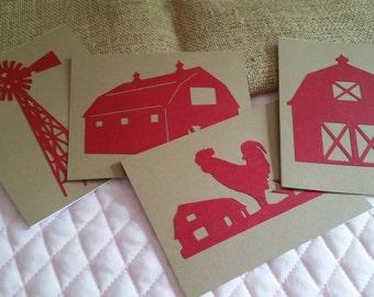 Set of 4 Farm Cards