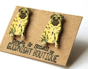 Pug Earrings Cute Earrings Dog Earrings