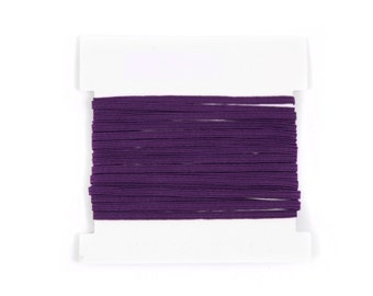 Elastic, 1/8th inch flat elastic for DIY Making Baby Headbands, skinny elastic - 5, 10, or 20 yard bundles - PLUM