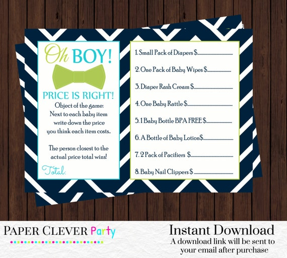 baby shower games price is right modern boys mustache in navy blue