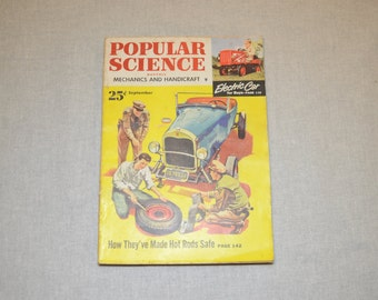 Popular Science September 1952 - Great Condition - Fascinating Articles and Hundreds of Vintage Advertisements