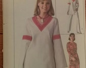 Simplicity 1976 pattern size 12 misses tunic pants caftan