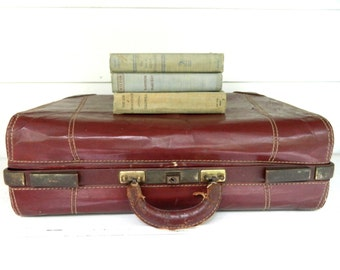 Vintage Suitcase Luggage Leather