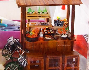 Miniature Japanese Food Stall - Lati yellow /Pukifee