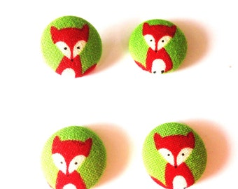 Fox Covered Fabric Buttons