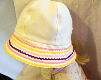 White Cotton Summer Hat  - Infant to Preschool