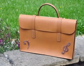 Leather music case