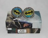Batman Cufflinks// Bat-Symbol cufflinks// Recycled comic Cufflinks// Dc comic cufflinks