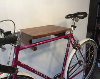 Jumbo Slot Bike Rack in American Walnut. Shipping Included.
