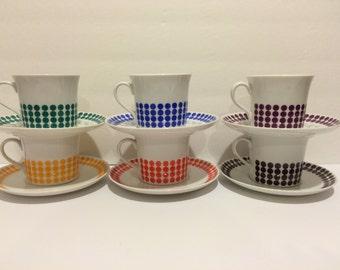 Modern Polka Dot Thun Czech tea/ coffee cup set