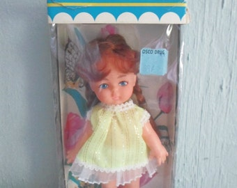 Little Lily Vintage Doll Made in Hong Kong w Box 1970's MIB