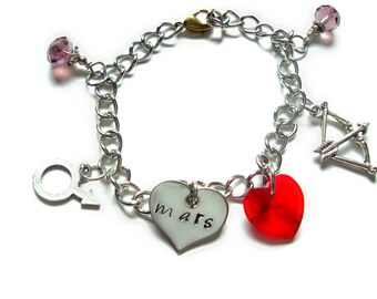 Sailor Mars Charm Bracelet