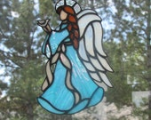 Stained Glass Angel of Hope