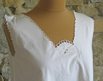 French linen nightdress size M chemise 2 available