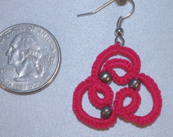 Beaded Earrings - Hypoallergenic - Needle Tatted - Free Shipping
