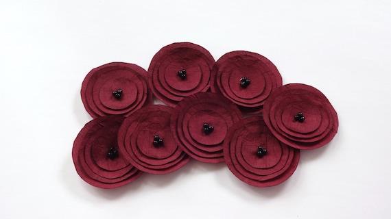 Dark Red Poppies Embellishment