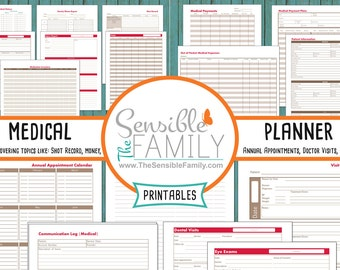 Medical Planner Kit | 17 Documents to Organize Your Family's Medical Information {Instant Download}