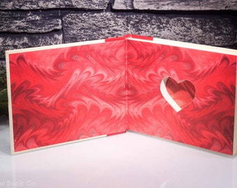Hollow Book Safe with Heart - P.S. I Love You (LEATHER-BOUND)