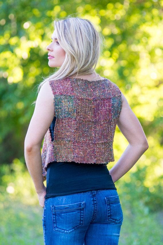 Basket Weave Vest Pattern : Weaving kit harlequin vest for pin or zoom loom with free