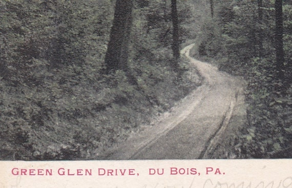 ca 1900 06 green glen drive in du bois pa undivided back topographical picture postcard. Black Bedroom Furniture Sets. Home Design Ideas