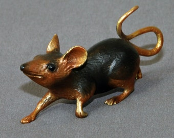 Bronze Mouse Figurine Statue Sculpture Mice Art Limited Edition Signed Numbered