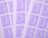 50 pieces - 2006 39 Purple Love Dove stamps - great for valentines, wedding invitations, save the dates