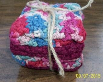 Washcloths Cotton - Gift Set graduation, engagement, birthdays. HANDMADE COTTON WASHCLOTH Unisex Eco-friendly washcloths. Bath Gift Set Spa