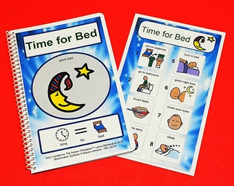 Time for Bed PECS Social Story and Picture Schedule Board for Visual Aid Autism