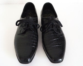 Vintage Mens Dress Shoes Designer Oxford Lace Up by Paloma Picasso Rare 1980s Size 8.5M