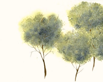 Tree Study Original Watercolor Painting