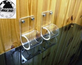Two Pcs Clear Acrylic Brackets Holders Supports for Window Curtain Rod up to 2 inches