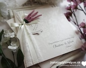 Stunning Vintage Ivory & Lilac Wedding Card