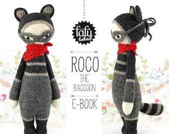 ROCO le raton laveur • lalylala patron au crochet / amigurumi