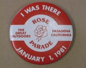 Vintage Rose Parade Pin, January 1,1981