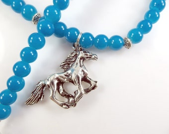 Girls horse necklace