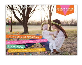 INSTANT DOWNLOAD - Photography Marketing board - Psd Newsletter  template - E1044